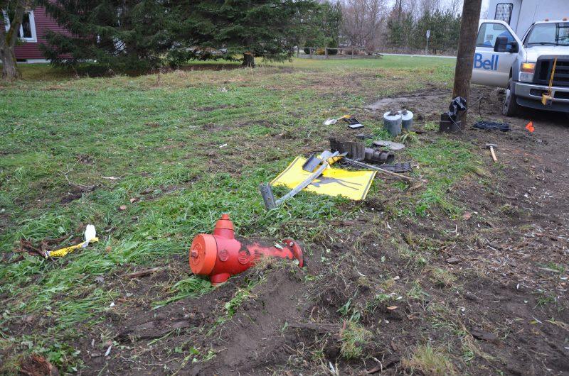 L'accident a causé plusieurs dommages. | TC Média - Sarah-Eve Charland