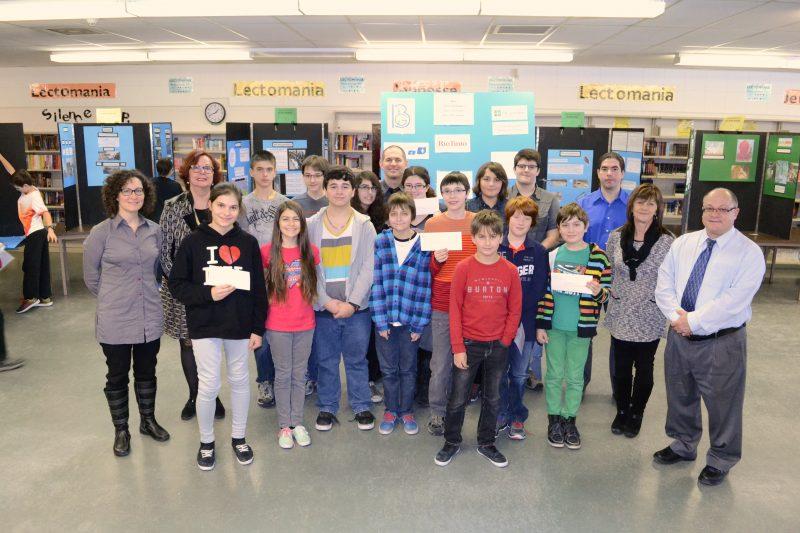 Les lauréats de la finale locale à l'école Bernard-Gariépy de l'édition 2015 | Gracieuseté