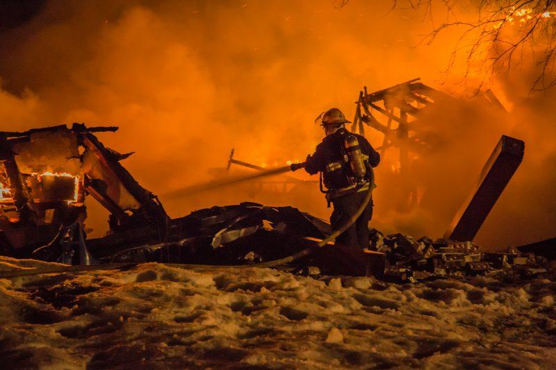 Le maison est une perte totale à Yamaska. | Julie Letendre, Photographe