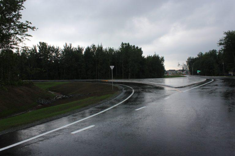 La bretelle d'accès à Contrecœur est maintenant rouverte à la circulation. | Photo: Ville de Contrecœur