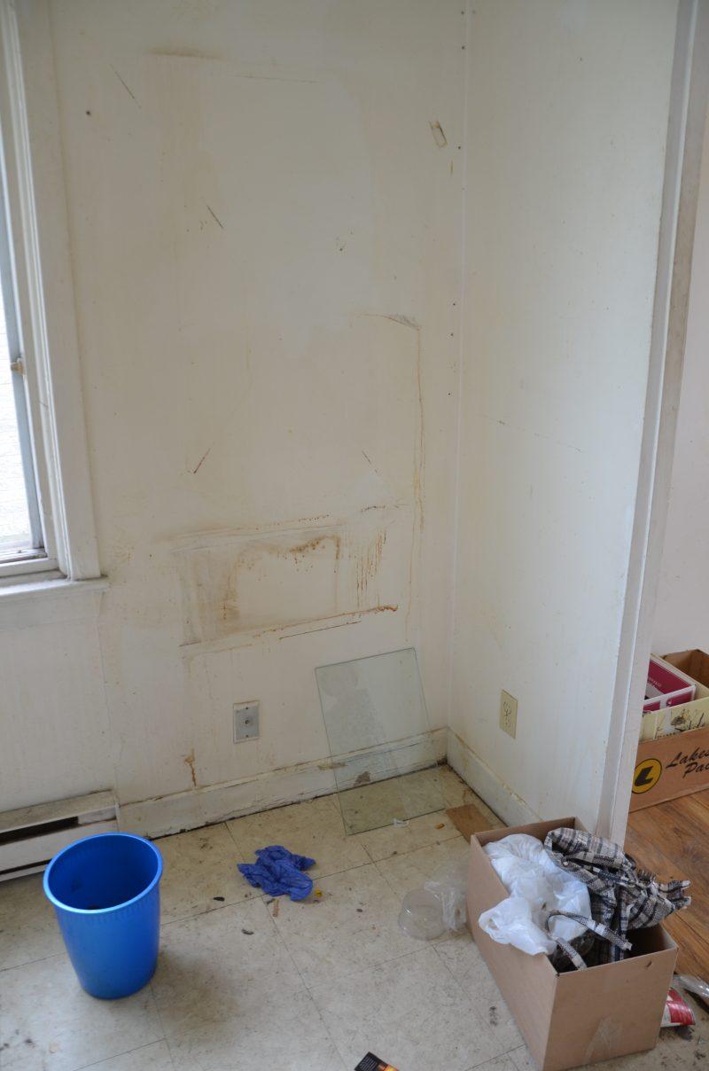 Certains murs ont été infiltrés par de l'eau. | TC Média - Sarah-Eve Charland