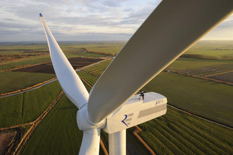 Douze éoliennes seront érigées en milieu rural dans la MRC de Pierre-De Saurel. | Photo TC Média: - Gracieuseté REpower Systems AG