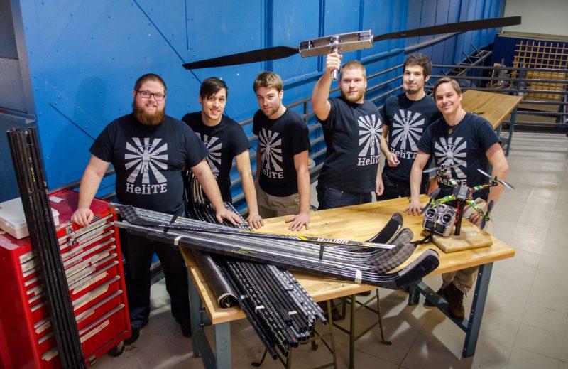 Les six étudiants du projet : Guillaume Poirier, Vincent Jacob-Ferland, Jérôme Larose, Nicolas Roy, John Bass et Samuel Soucy-Bouchard. | gracieuseté – John Bass