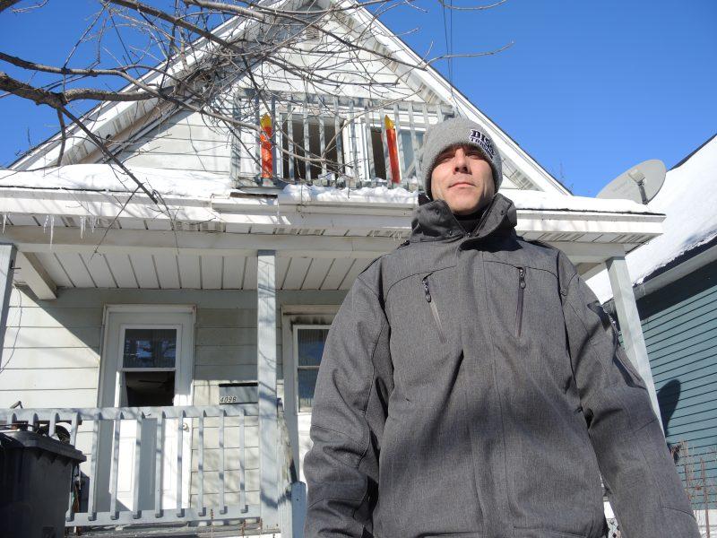 Stéphane Daigle a vu son appartement partir en fumée. | TC Média - Sarah-Eve Charland
