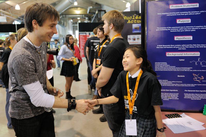 Luc Langevin est le porte-parole de l'Expo-sciences. | Gracieuseté/Chantale Hamel