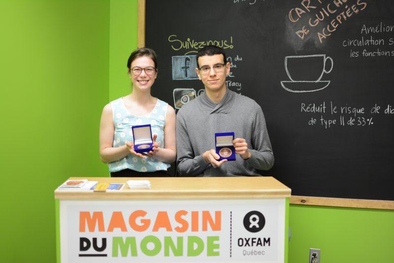 Jeanne Coutu-Drainville et Mohammed Laddi ont reçu leur Médaille du Lieutenant‐gouverneur pour la jeunesse. | Gracieuseté/Cégep de Sorel-Tracy