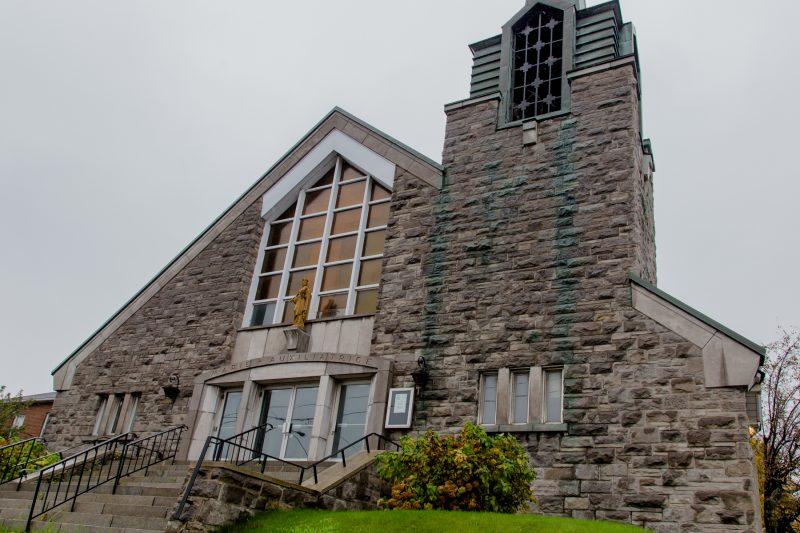 L'église Marie-Auxiliatrice pourrait être transformée en microdistillerie. | Photo: TC Média - Pascal Cournoyer