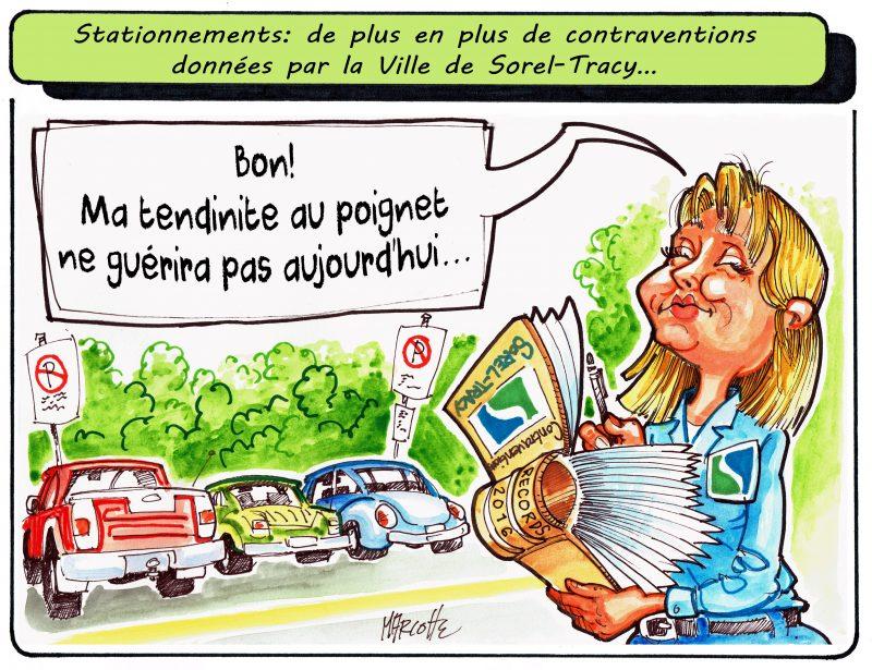 Les infractions les plus souvent données par la Ville de Sorel-Tracy sont en lien avec les stationnements! | Gilles Bill Marcotte