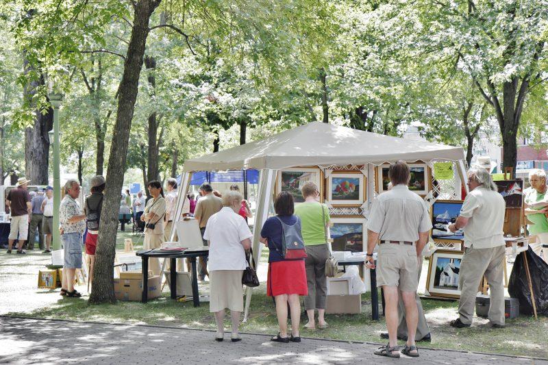 Une vingtaine d'artistes exposeront au carré Royal lors du Symposium des arts qui se déroulera les 20 et 21 août de 10h à 17h. | Photo: TC Média - Archives