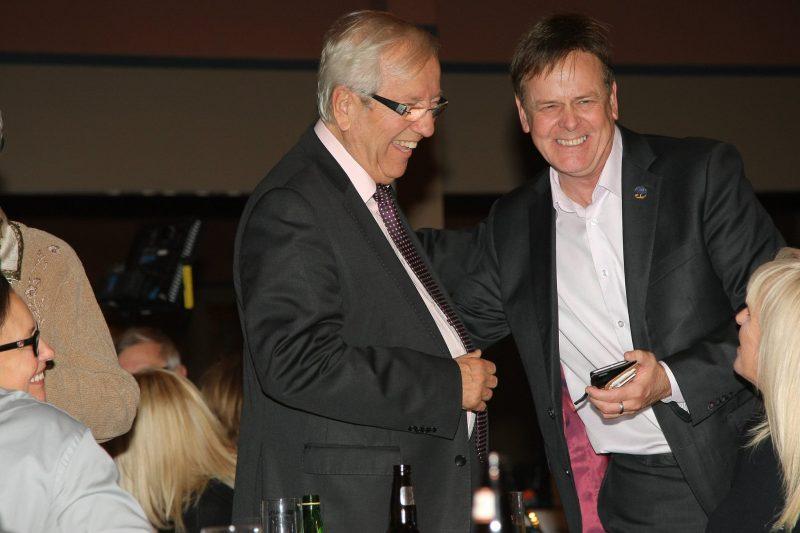 Louis Plamondon est appuyé par Sylvain Rochon, député péquiste. | TC Média - Pascal Cournoyer