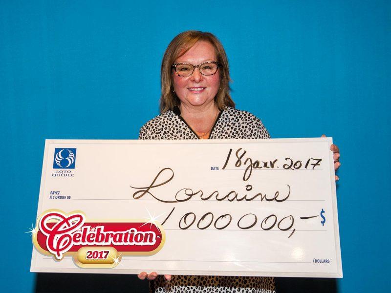 Lorraine Lafond Dionne est nouvellement millionnaire. | Loto-Québec