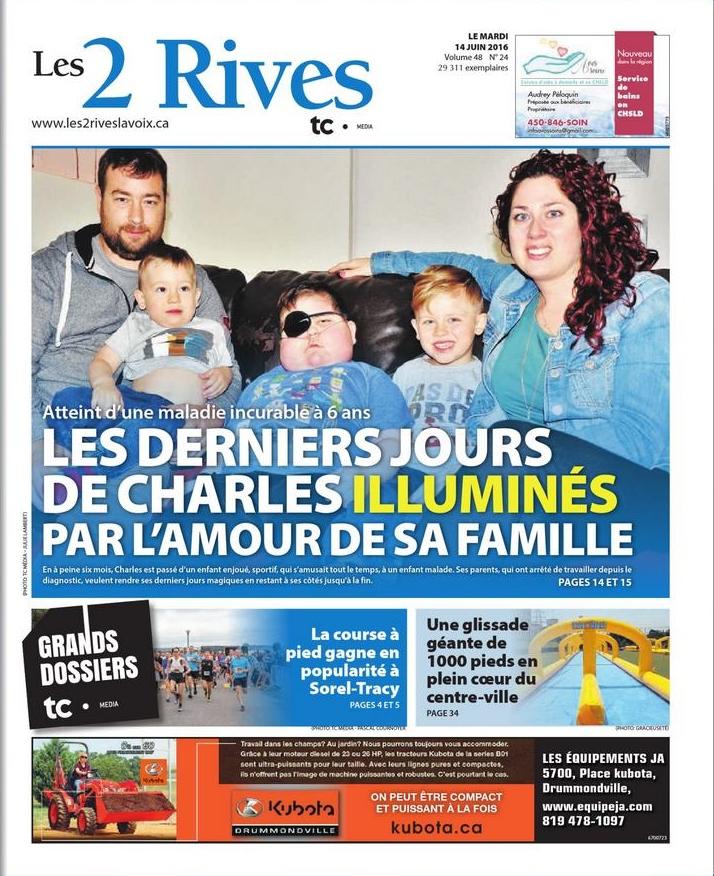 La famille Caisse-Chenette se réjouit du support de la communauté dans leur dure épreuve. | Photo: TC Média – Julie Lambert