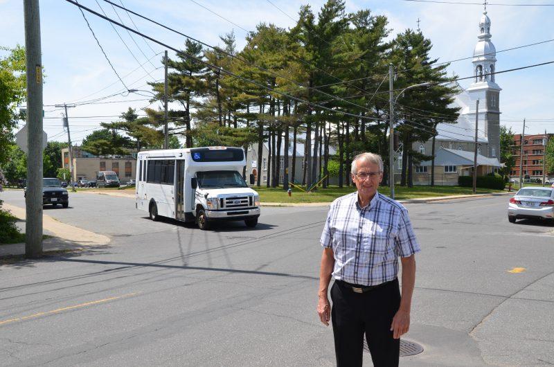 Le conseiller du Vieux-Sorel, Jocelyn Mondou, veut qu'un « stop » soit implanté à cette intersection. | Photo: TC Média - Jonathan Tremblay
