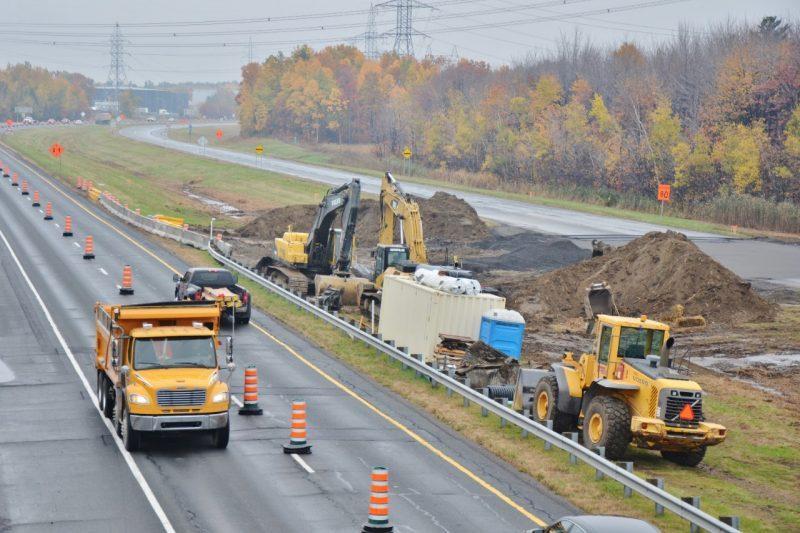 Les travaux de reconstruction de l'autoroute 30 entre Sorel-Tracy et contreoceur sont commencés depuis dimanche.