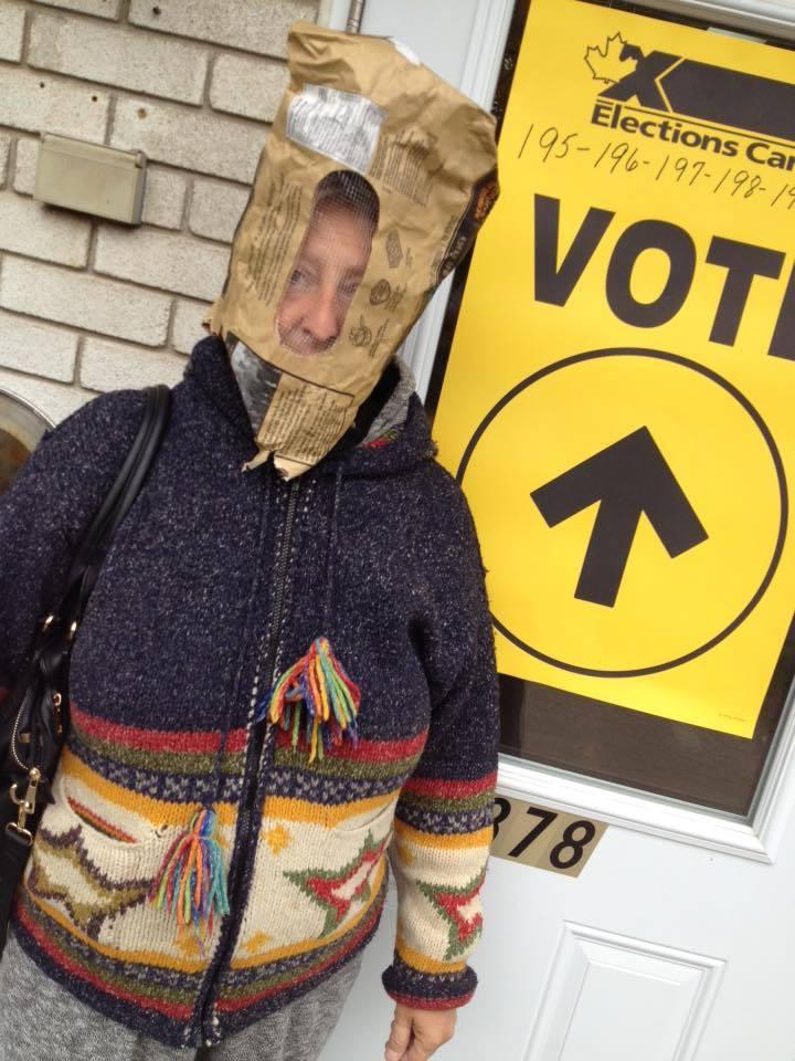 Nathalie Arpin a voté à Saint-Roch-de-Richelieu.   Gracieuseté
