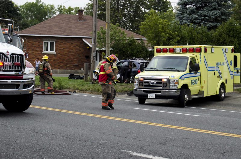 Un accident sur le boulevard Fiset, samedi le 17 septembre. | TC Media- Stéphane Martin