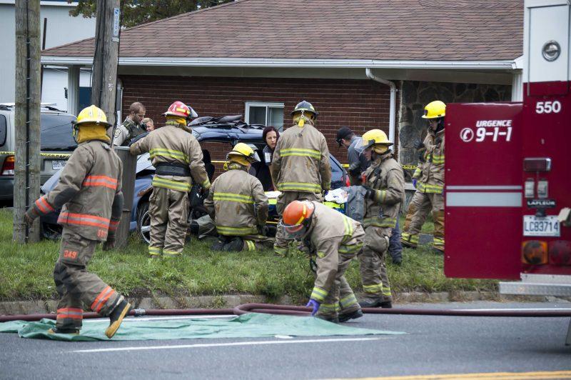 Un accident sur le boulevard Fiset, samedi le 17 septembre.