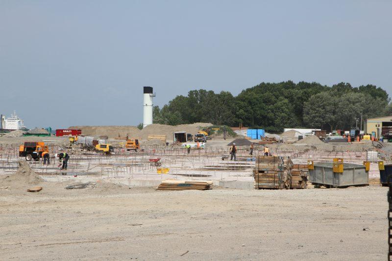Les travaux de réhabilitation des terrains de l'ancienne centrale thermique permettront à la Ville d'y installer un terminal maritime. | Photo: Gracieuseté