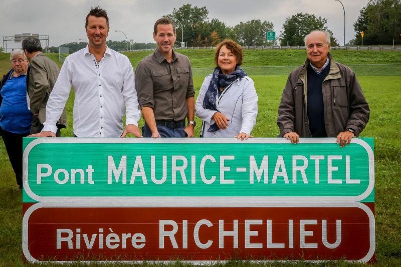 Le pont Maurice-Martel a été inauguré le 6 septembre au coin du boulevard Gagné et de l'autoroute 30. | Pascal Cournoyer