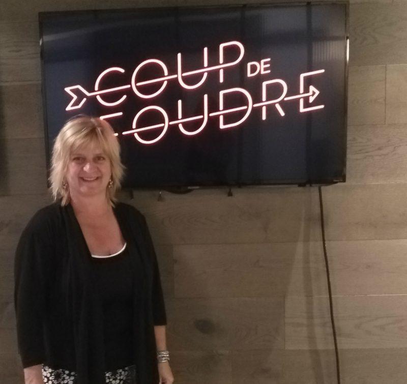 Maryse Touchette lors du tournage le 6 août dernier