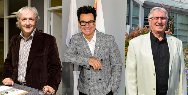 Les candidats à la mairie de Sorel-Tracy, Marcel Robert, Serge Péloquin et Réjean Dauplaise. | Photos: TC Media