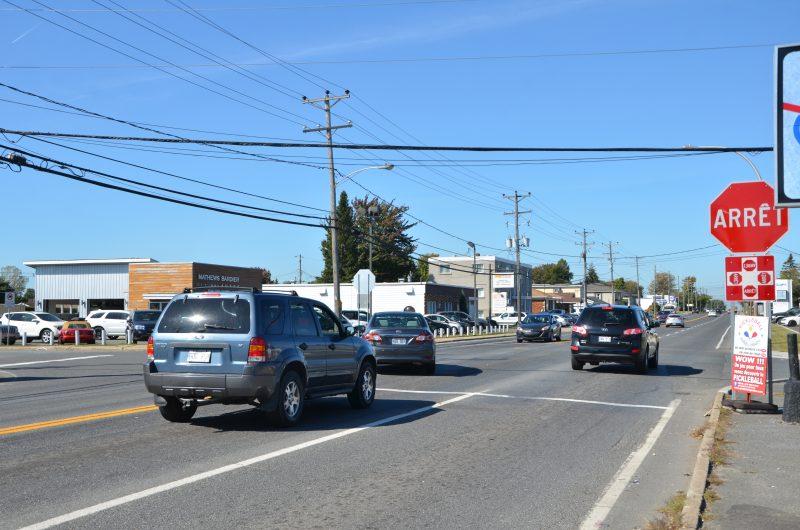 Le coin de la rue Auber et du boulevard Fiset pourrait accueillir des feux de circulation. | Photo: TC Media – Julie Lambert