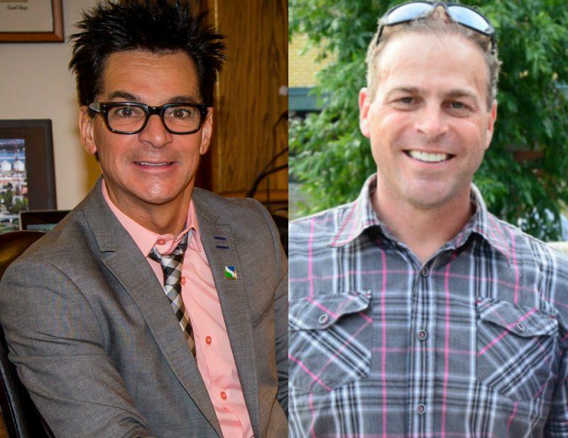 Stéphane Béland (à droite) déplore l'attribution de contrats au fils du maire de Sorel-Tracy Serge Péloquin (à gauche), soulevant un problème d'éthique et de transparence. | Photo: TC Media – Archives