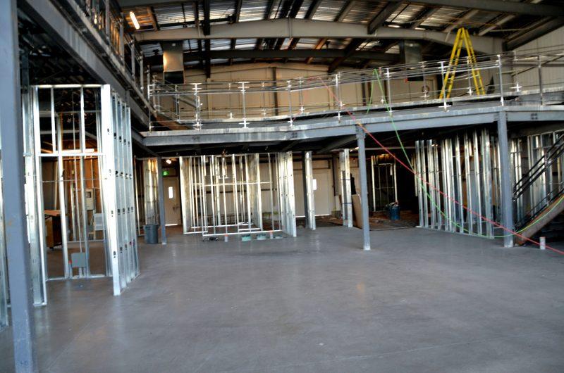 L'intérieur du bâtiment pendant les rénovations. | Photos par Photo: Julie Lambert