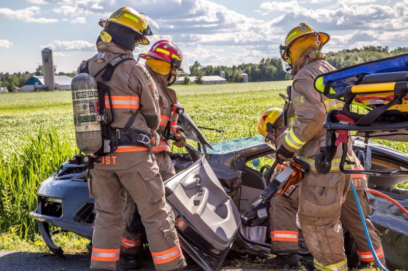 Un accident impliquant un véhicule s'est déroulé à Saint-Robert, en fin d'après-midi, le 21 juin. | TC Média - Pascal Cournoyer