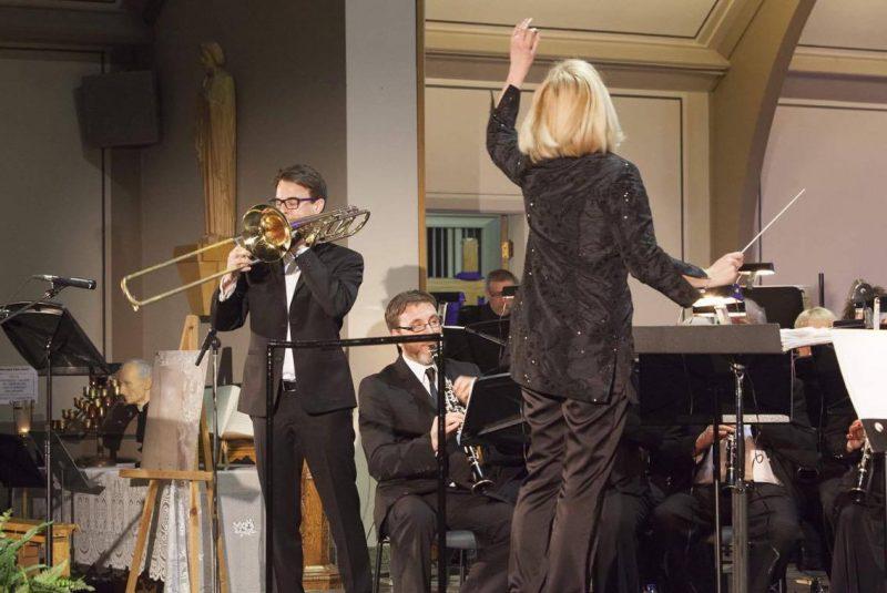 Le tromboniste originaire de Sorel-Tracy, Bruno Laurence Joyal, lors d'une performance pour le 100e anniversaire de l'Harmonie Calixa-Lavallée l'an dernier. | Photo: Gracieuseté – Maurice Parent