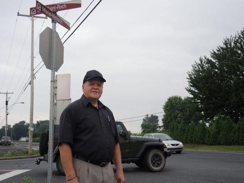 Jean-Yves Gendron avait dénoncé la dangerosité de l'intersection de la route 132 et de la montée Saint-Roch en juillet 2015. | Photo: TC Média - Archives
