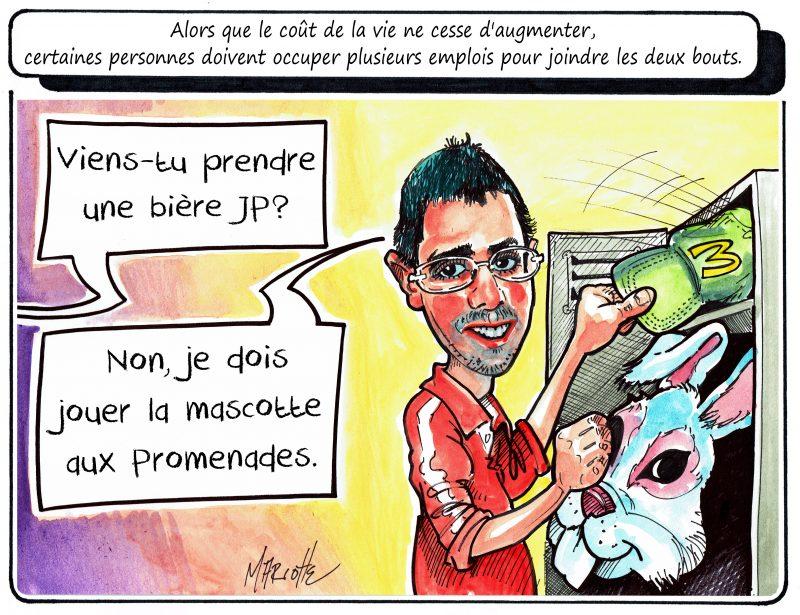 Le caricaturiste Gilles Bill Marcotte s'est inspiré de notre chef de nouvelles pour sa caricature de la semaine! | Gilles Bill Marcotte
