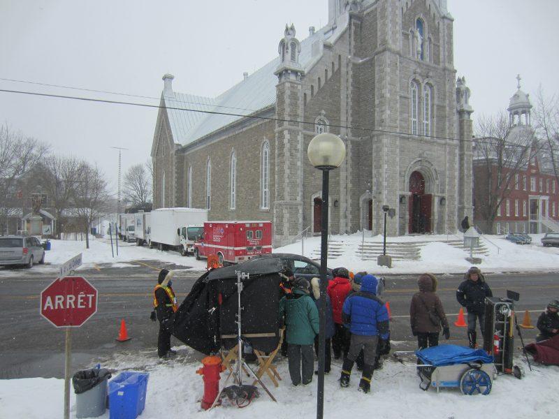Le film La Passion d'Augustine, a récolté des prix au Gala du cinéma québécois le 20 mars dernier. Sur la photo, l'équipe de tournage qui a croqué plusieurs paysages de Saint-Ours en 2014. | Photo: TC Média – Louise Grégoire-Racicot