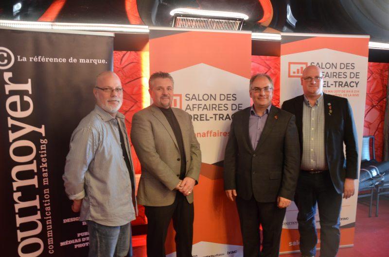 Pierre-André Emond, Richard Morrissette, Laurent Cournoyer et Sylvain Dupuis. | TC Média – Jonathan Tremblay