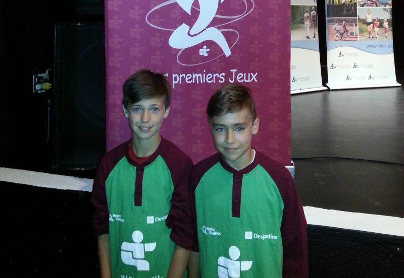 Matisse Chrétien et Charles-Antoine Dupont ont adoré représenter Richelieu-Yamaska aux Jeux du Québec. | Photo: gracieuseté