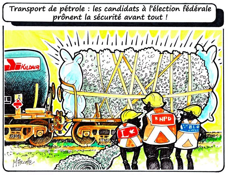 Caricature de Gilles Bill Marcotte dans le cadre de la campagne électorale fédérale. | Photo: Gilles Bill Marcotte