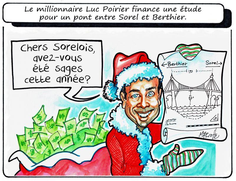 Un cadeau de Noël avant le temps de Luc Poirier? Peut-être? C'est du moins ce qu'en pense notre caricaturiste Gilles Bill Marcotte! | Gilles Bill Marcotte