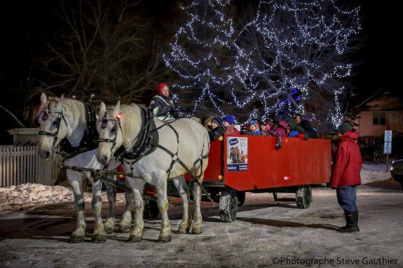 Les familles pourront se promener en carriole durant toute la fin de semaine. | Gracieuseté Gracieuseté – Steve Gauthier/Ville de Saint-Joseph-de-Sorel