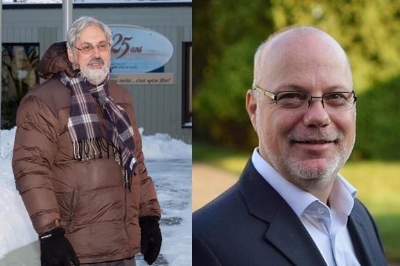 Michel Péloquin, maire sortant et Pierre-André Émond, citoyen qui pourrait se présenter à la mairie. | Pascal Cournoyer et Facebook