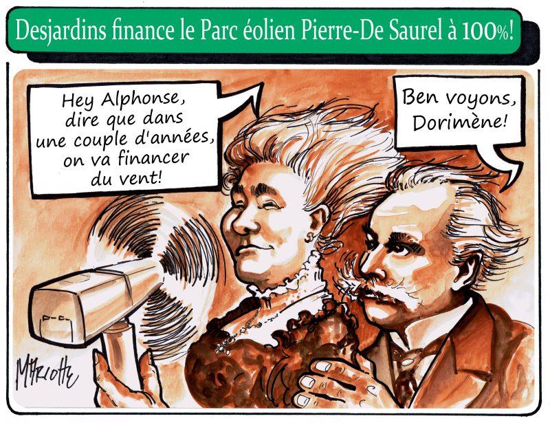 Alphonse et Dorimène Desjardins reprennent vie dans la plus récente caricature de Gilles Bill Marcotte!   Gilles Bill Marcotte
