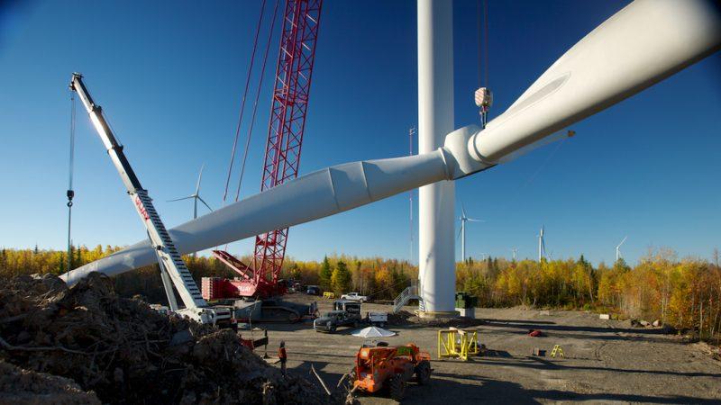 Le parc comptera 12 éoliennes produisant 25 mégawatts. De quoi alimenter 2000 foyers.   Photo: Gracieuseté Servion