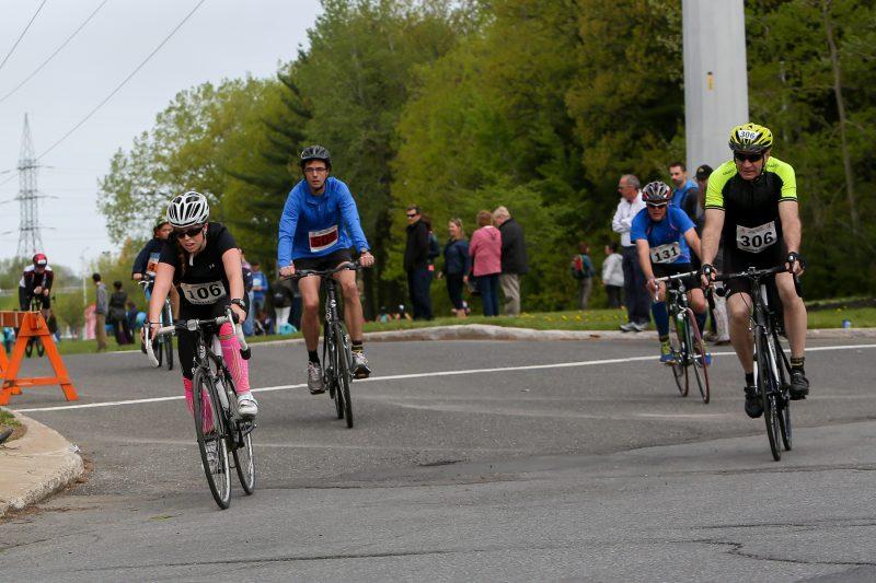 Cent quarante participants ont pédalé et couru au 24e Duathlon Sorel-Tracy, le 21 mai. | Pascal Cournoyer