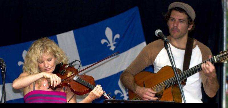 Valérie Pichon et Stéphane Tellier en duo à la messe de la St-Jean, à Sainte-Anne-de-Sorel | Photo: Gracieuseté