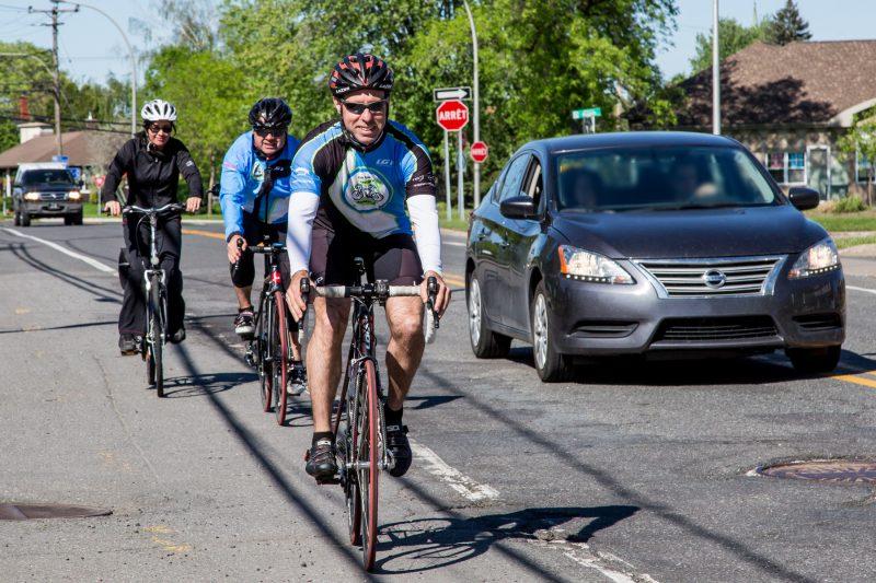 Le nombre de collisions entre un véhicule et un cycliste est en diminution dans la région. | Photo: TC Média - Pascal Cournoyer