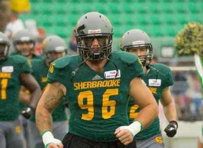 Louis-Simon Nadeau a bien fait avec le Vert et Or de l'Université de Sherbrooke. | gracieuseté – Yves Longpré