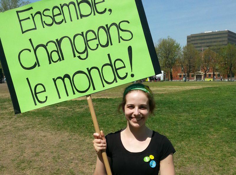 Une jeune Soreloise, Jeanne Lavallée, organise une marche pour sensibiliser la population aux impacts des changements climatiques. | Gracieuseté