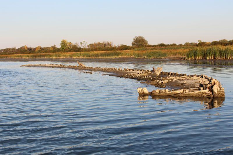 Photo d'Ariane Laplante, 12 ans – Sorel-Tracy - L'épave du chenal des barques   Photo: Gracieuseté