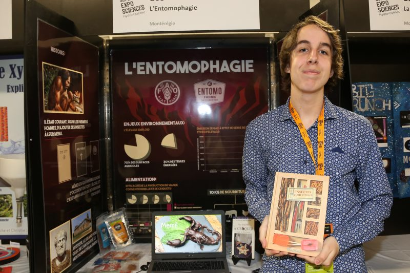 Un des représentants de la région, Tommy Dupuis, était parmi les exposants lors de la Finale québécoise d'Expo-sciences cette fin de semaine. | Photo: TC Média - Pascal Cournoyer