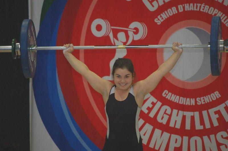 Caroll-Anne Paul a bien fait lors des Championnats canadiens senior d'haltérophilie, le 21 mai à La Prairie. | Photo: gracieuseté