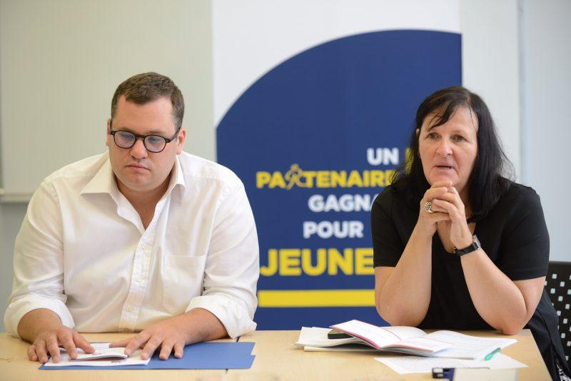 Alexandre Soulières et Martine Roy estiment que les jeunes ont aussi besoin de soutien sur le volet social. | Remy Boily        514-914-1005